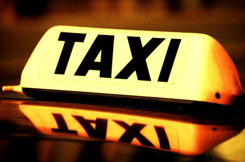 Taxi cab sign
